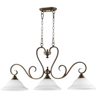 Celesta 42 inch Oiled Bronze Island Light Ceiling Light in Satin Opal, Satin Opal