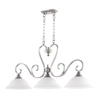 Celesta 3 Light 42 inch Classic Nickel Island Light Ceiling Light in Satin Opal