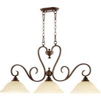 Quorum International Celesta 3 Light Island Light in Oiled Bronze 6553-3-86