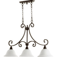 Bryant 3 Light 36 inch Oiled Bronze Island Light Ceiling Light in Satin Opal