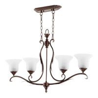Quorum 6572-4-39 Flora 4 Light 38 inch Vintage Copper Island Light Ceiling Light