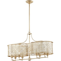 Quorum 6575-8-60 Bastille 8 Light 38 inch Aged Silver Leaf Island Light Ceiling Light