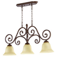 Quorum 6578-3-186 Tribeca II 3 Light 31 inch Oiled Bronze Island Light Ceiling Light