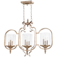 Quorum 6580-9-60 Chalon 9 Light 37 inch Aged Silver Leaf Island Light Ceiling Light