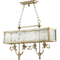 Quorum International Champlain 4 Light Island Light in Aged Silver Leaf 6581-4-60