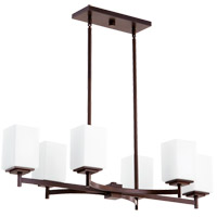 Quorum 6584-6-86 Delta 6 Light 35 inch Oiled Bronze Island Light Ceiling Light
