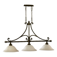 Quorum 6586-3-86 Alameda 3 Light 46 inch Oiled Bronze Island Light Ceiling Light