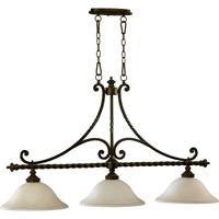 Quorum 6586-3-86 Alameda 3 Light 46 inch Oiled Bronze Island Light Ceiling Light