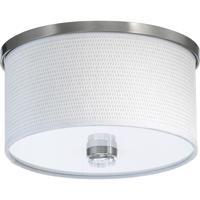 Quorum 659-11-65 Copeland 1 Light 12 inch Satin Nickel Flush Mount Ceiling Light