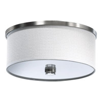 Quorum 659-14-65 Copeland 2 Light 15 inch Satin Nickel Flush Mount Ceiling Light