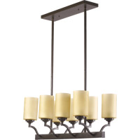 Quorum 6596-8-86 Atwood 8 Light 29 inch Oiled Bronze Island Light Ceiling Light in Amber Scavo