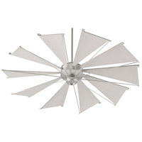Quorum 66010-65 Mykonos 60 inch Satin Nickel with Gray Blades Indoor/Outdoor Ceiling Fan