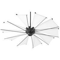 Quorum 66010-69 Mykonos 60 inch Noir with White Blades Ceiling Fan