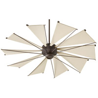 Quorum 66010-86 Mykonos 60 inch Oiled Bronze with Khaki Blades Ceiling Fan