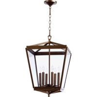 Quorum International Kaufmann 6 Light Foyer Light in Oiled Bronze 6604-6-86