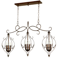 Ariel 9 Light 41 inch Vintage Copper Island Light Ceiling Light