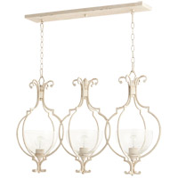 Quorum 6614-3-70 Ansley 3 Light 37 inch Persian White Island Light Ceiling Light