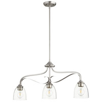 Quorum 6627-3-265 Jardin 3 Light 33 inch Satin Nickel Island Light Ceiling Light