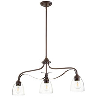 Quorum 6627-3-286 Jardin 3 Light 33 inch Oiled Bronze Island Light Ceiling Light