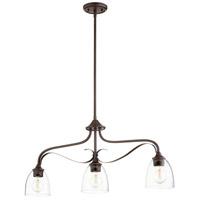 Quorum 6627-3-286 Jardin 3 Light 33 inch Oiled Bronze Island Light Ceiling Light