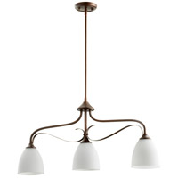 Quorum 6627-3-86 Jardin 3 Light 33 inch Oiled Bronze Island Light Ceiling Light