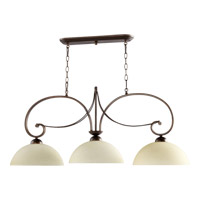Quorum 6631-3-86 Lariat 3 Light 43 inch Oiled Bronze Island Light Ceiling Light