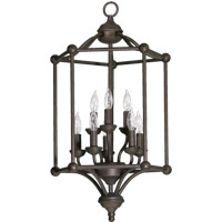 Quorum International Ashton 8 Light Foyer Light in Toasted Sienna 6635-8-44