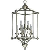 Quorum International Ashton 8 Light Foyer Light in Satin Nickel 6635-8-65