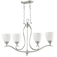 Flora 4 Light 36 inch Satin Nickel Island Light Ceiling Light