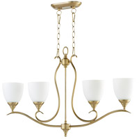 Quorum 664-4-80 Flora 4 Light 36 inch Aged Brass Island Light Ceiling Light
