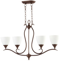 Quorum 664-4-86 Flora 4 Light 36 inch Oiled Bronze Island Light Ceiling Light