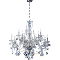 Quorum International Bohemian Marien 12 Light Chandelier in Chrome 665-12-514