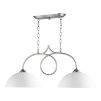 Brooks 2 Light 33 inch Satin Nickel Island Light Ceiling Light