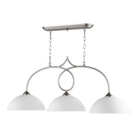 Quorum International Brooks 3 Light Island Light in Satin Nickel 6650-3-65