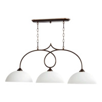 Quorum International Brooks 3 Light Island Light in Oiled Bronze 6650-3-86