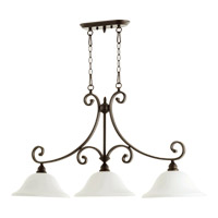 Quorum 6654-3-186 Bryant 3 Light 45 inch Oiled Bronze Island Light Ceiling Light