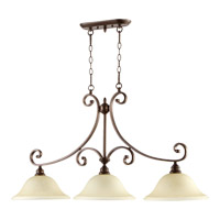 Quorum International Bryant 3 Light Island Light in Oiled Bronze 6654-3-86