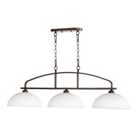 Quorum 6660-3-86 Reyes 3 Light 47 inch Oiled Bronze Island Light Ceiling Light