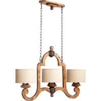 Quorum International Ashford 6 Light Island Light in Provincial with Rustic Iron Accents 6663-6-23