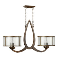 Quorum 6666-6-21 Telluride 6 Light 45 inch Early American Island Light Ceiling Light