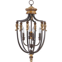 Quorum International Capella 4 Light Foyer Light in Toasted Sienna With Golden Fawn 6701-4-44