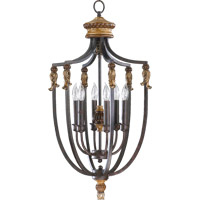 Quorum International Capella 6 Light Foyer Light in Toasted Sienna With Golden Fawn 6701-6-44