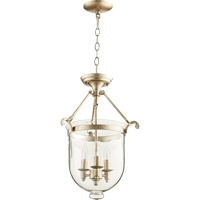 Quorum Signature 3 Light Foyer Light in Aged Silver Leaf 6702-3-60