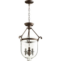 Quorum 6702-3-86 Signature 3 Light 14 inch Oiled Bronze Foyer Light Ceiling Light