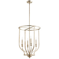 Richmond 4 Light 18 inch Aged Silver Leaf Foyer Pendant Ceiling Light