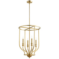 Richmond 4 Light 18 inch Aged Brass Foyer Pendant Ceiling Light