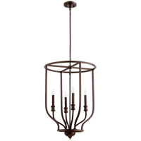 Richmond 4 Light 18 inch Oiled Bronze Foyer Pendant Ceiling Light