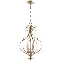 Ansley 3 Light 14 inch Aged Silver Leaf Foyer Pendant Ceiling Light