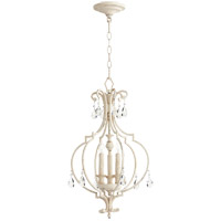 Quorum 6714-3-70 Ansley 3 Light 14 inch Persian White Mini Chandelier Ceiling Light