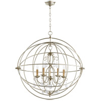 Cilia 32 inch Aged Silver Leaf Chandelier Ceiling Light, Sphere